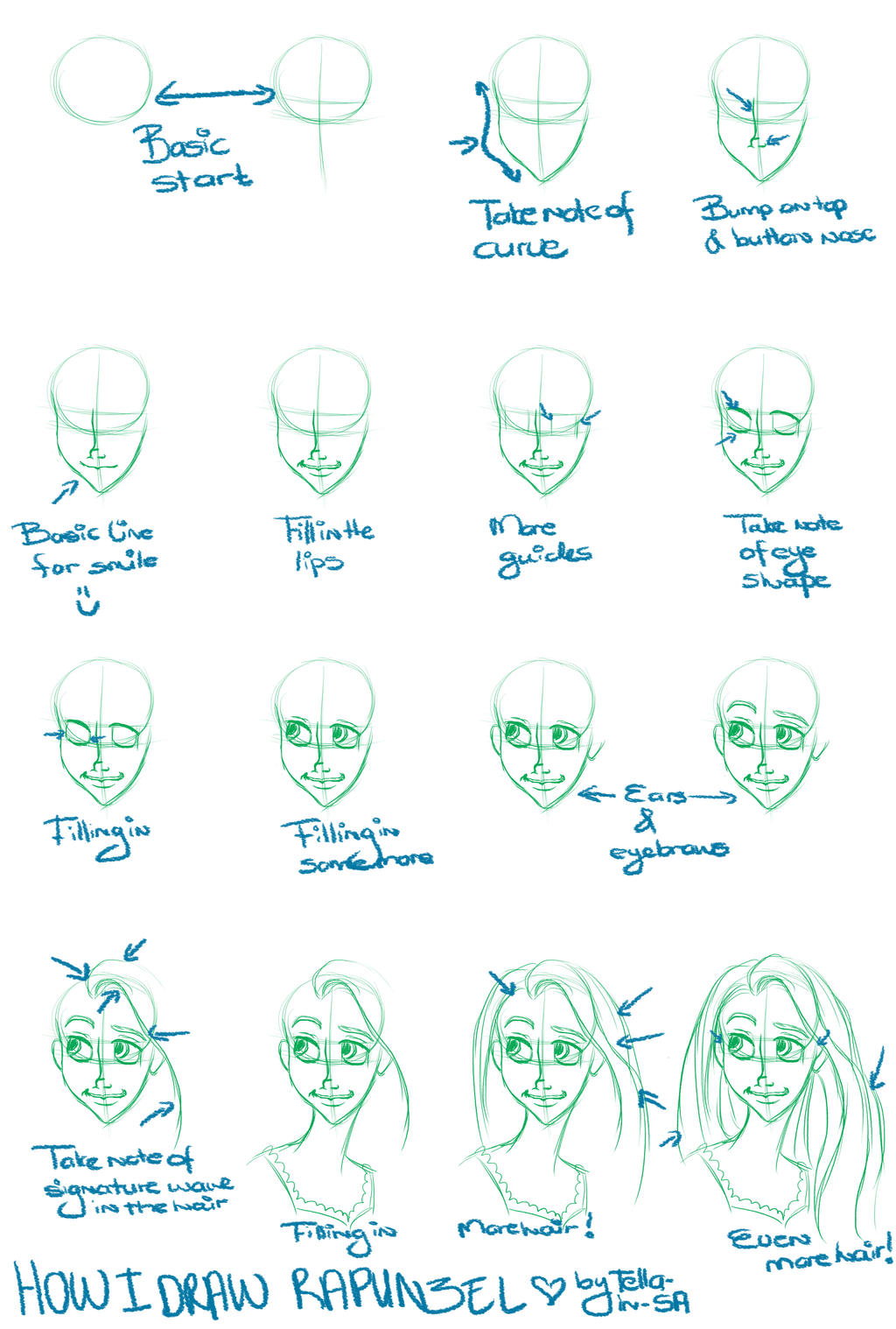 disney how to draw expressions