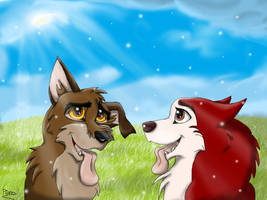 Balto and Jenna Pups by Elana-Louise
