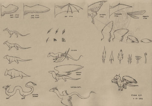 Dragon references - wings and bodies