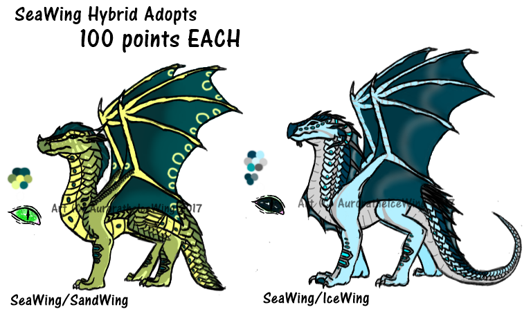 (OPEN 1/2) 100 point SeaWing Hybrid Adopts by AuroratheIceWing