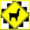 Llama Crossing by TheLoveTrain