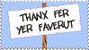 Thanks For Your Favourite by TheLoveTrain