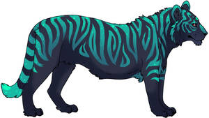 Neon Tiger by QuillCoil