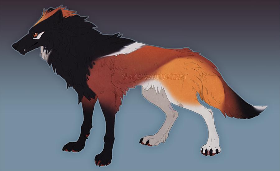 Wolf Adoptable 14 by Sheylu
