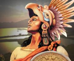 Eagle Warrior Digital Painting by zeezeeazc123