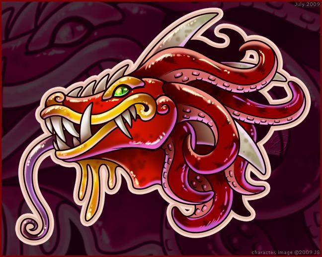 Quetzalcoatl Head by zillabean on DeviantArt