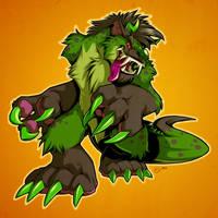 Kaiju Hyena Monster by zillabean