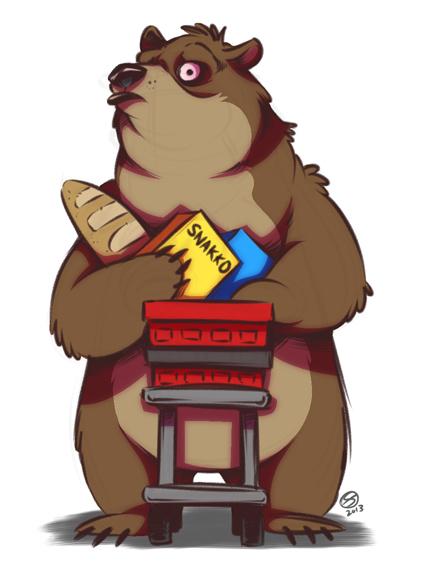 Tea-Bear is a self-conscious shopper by zillabean