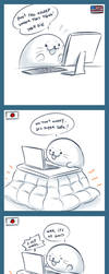 Harp Seal Friend: Kotatsu by zillabean