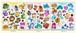 Cutie Patooties:  Fatty Animal Sticker Sets!