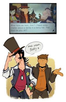 Dandy in a fancy hat