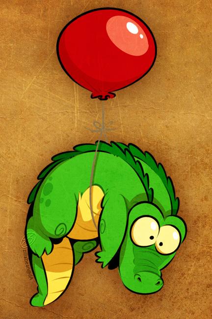 Balloon Gator by zillabean