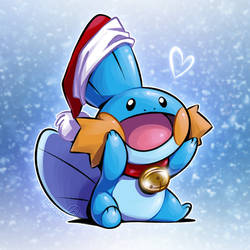 Merry Mudkip by zillabean