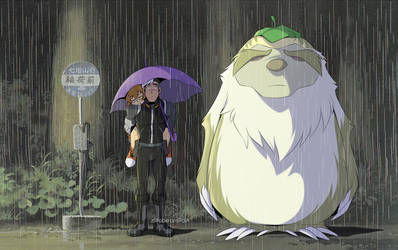 Voltron x Totoro by zillabean