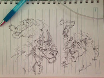 Meeting doodles by zillabean