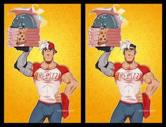 Pizza Daddy Shiro by zillabean