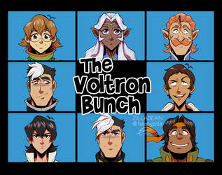 The Voltron Bunch 1:2 by zillabean