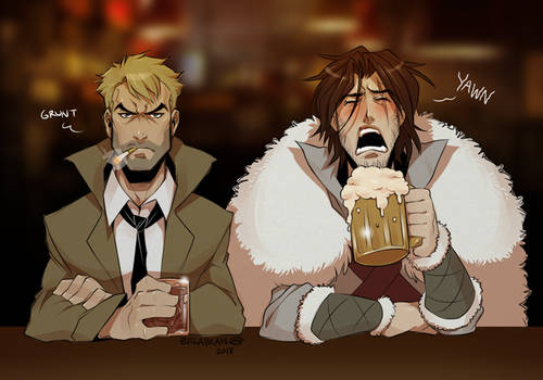 So 2 demon hunters walk into a bar...