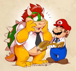 Thank You Reggie and Good Luck Bowser! by zillabean