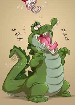 Commission: Tick Tock crocodile