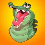 Commission - custom charm design - Tick Tock Croc