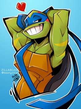 Commission: Flirty Leonardo