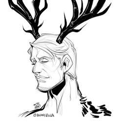 Hannibal antler sketch