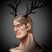 Hannibal antler sketch (colored)
