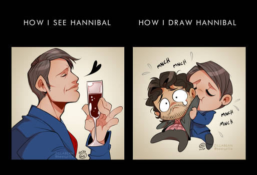 How I see vs. How I draw
