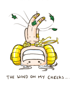 The wind on my cheeks.... by Squid-Inc