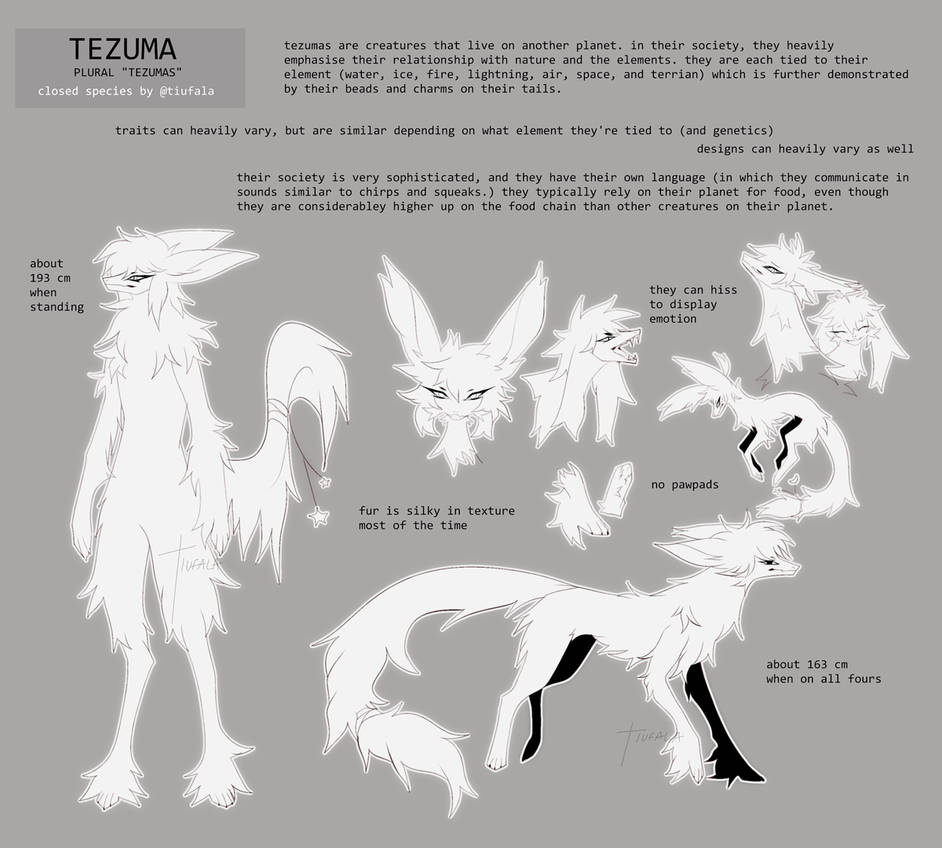 tezuma species sheet by tiufala on DeviantArt