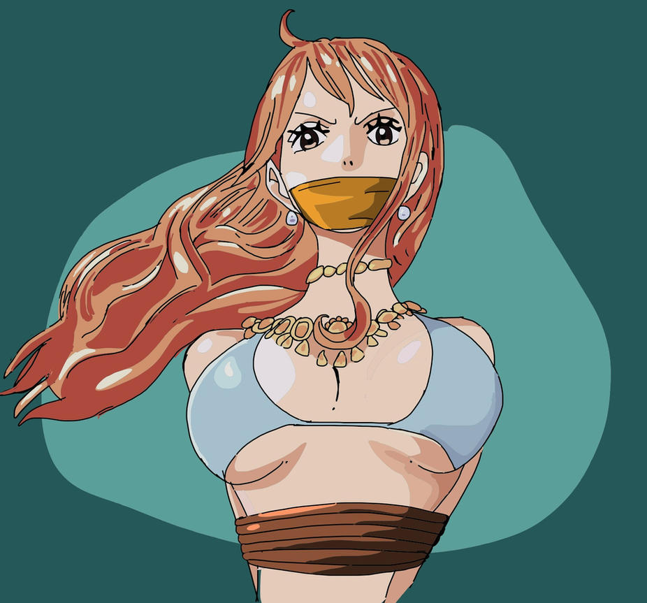 Nami bound and gagged by Itstapeg2 on DeviantArt