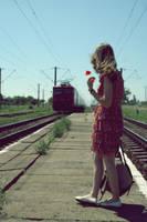 She never took the train alone by angela-madalina