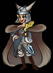 Beatrixe Game Graphic with armor by TacoElGatoComics