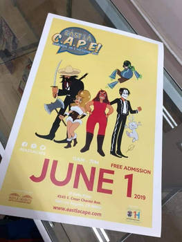 Beatrixe featured in the East LA CAPE poster