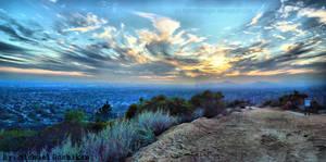 Mountain Trail Sunset HDR by MykolVroxgen