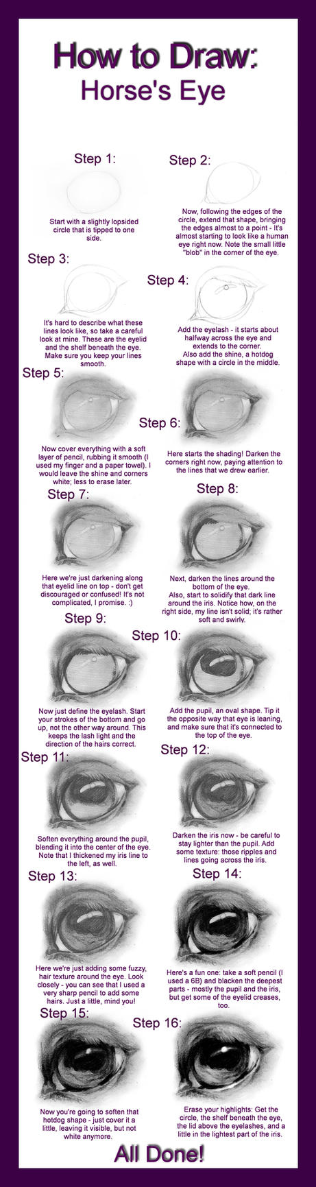 How To Draw: Horse's Eye By