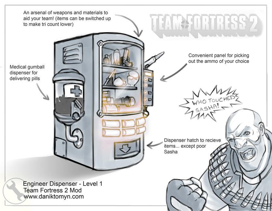 TF2 Dispenser Mod - Level 1 by DanikYaroslavTomyn on DeviantArt