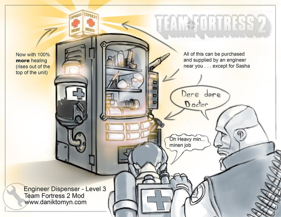 TF2 Dispenser Mod - Level 3 by DanikYaroslavTomyn on DeviantArt