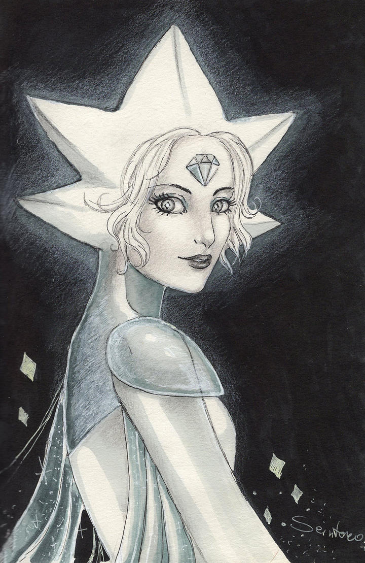 White diamond from Steven's universe.  Sketch markers.