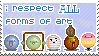 I Respect All Art Stamp By Sinister Starfeesh by vickymichaelis