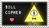 Bill Cipher Stamp By Stormeater-d8eys2n by vickymichaelis