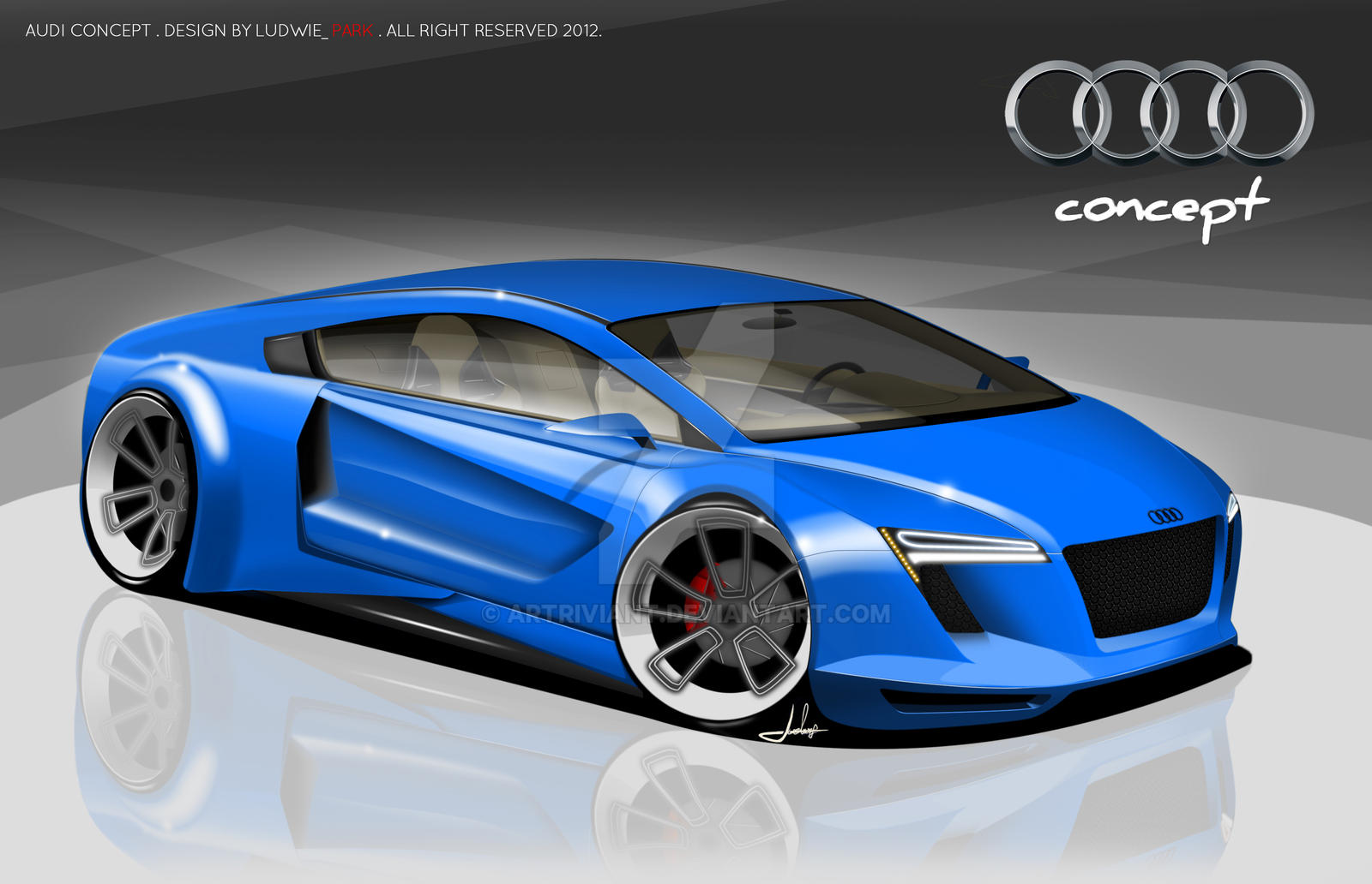 Audi Concept A9 By Artriviant On Deviantart