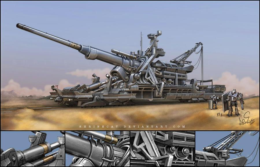 Armored Railway Gun DbV 'EBER' by Shrinecat