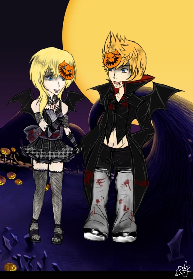 vampires in halloween town by chibi isse - Roxas Halloween Town