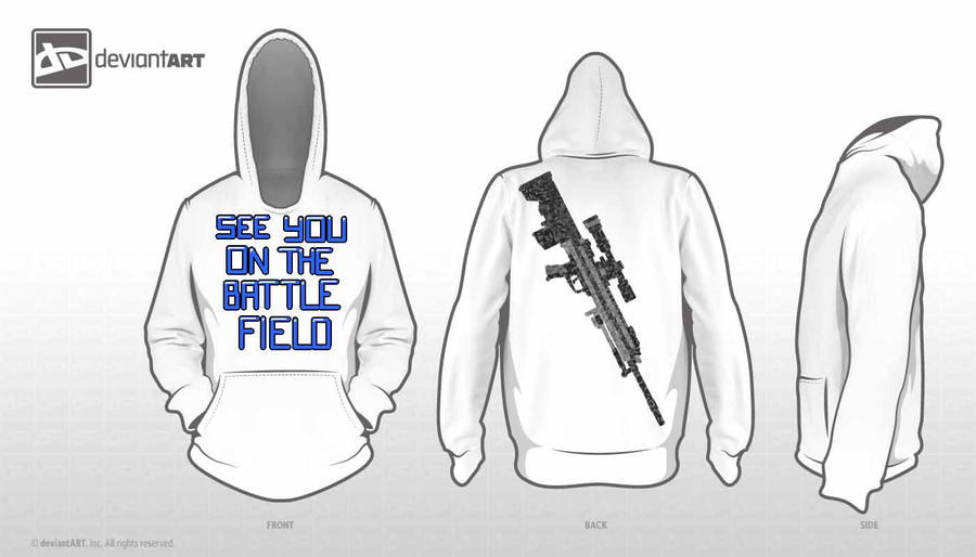 See You On The 8-Bit Battlefield (Hoodie Design) by galadriel-the-small