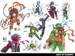 TMNT Doujinshi Characters by zaionic