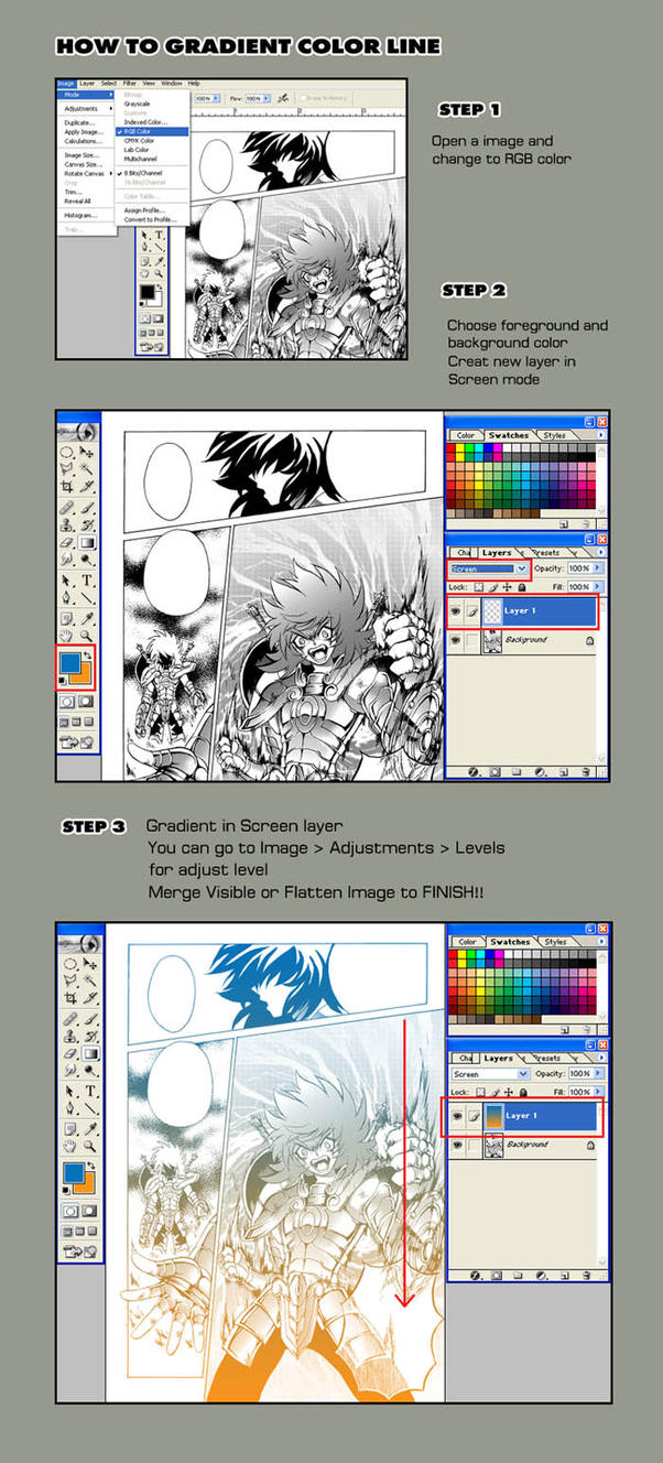 How To Gradient Color Line by zaionic