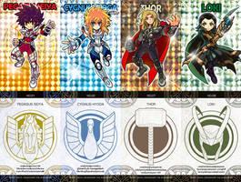 Doujinshi Cards Set1 by zaionic