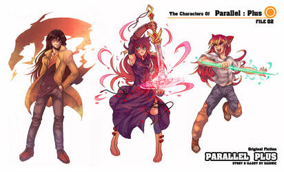 Characters From Parallel Plus by zaionic
